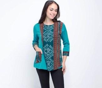 Model Baju Batik Pegawai Bank Perempuan Terbaru