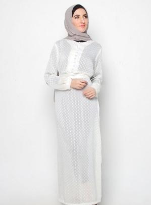Model Baju Gamis Sifon Polos Dengan Desain Modern dan Stylish