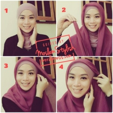 Tutorial Hijab Paris Sederhana 3
