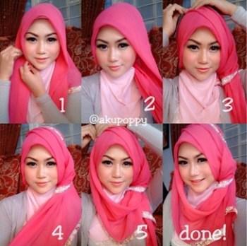 Tutorial Hijab Pesta untuk Pernikahan dengan Model Pashmina Modern