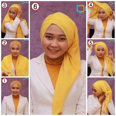 Tutorial Hijab Pesta untuk Pernikahan dengan Model Pashmina Turban