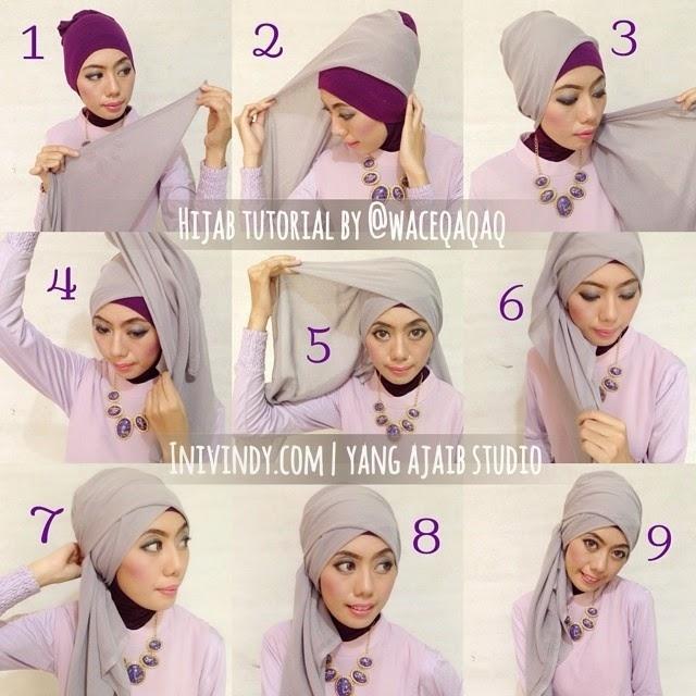 Tutorial Hijab Segi Empat untuk Pesta Paling Elegan