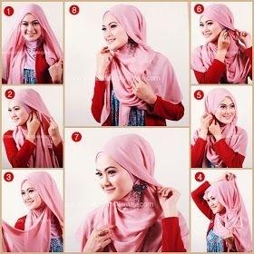 Tutorial Hijab Segi Empat untuk Pesta Pernikahan Sederhana
