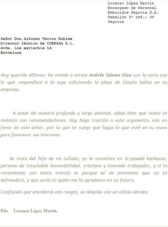 Image Of Ejemplo De Carta Referencia Personal Colombia FORMATO