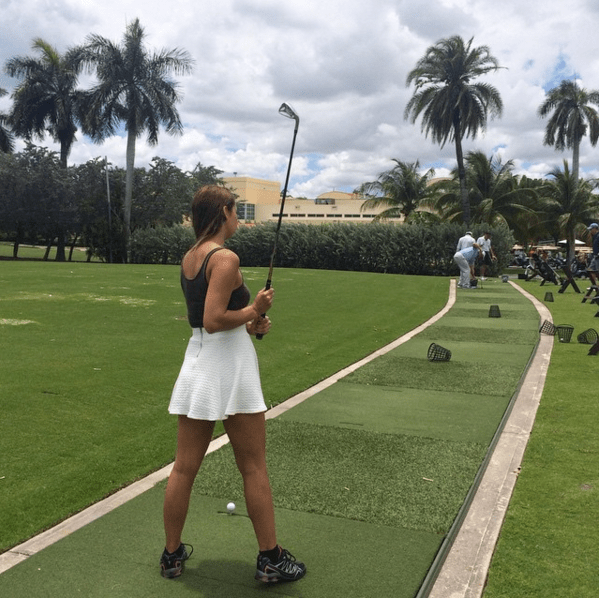 nora gouma, golf, modelonamission