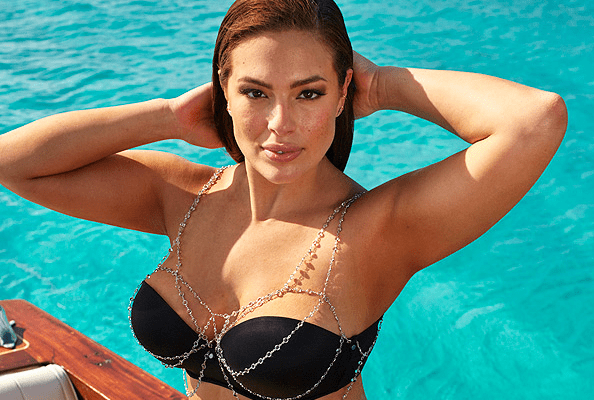 ashley graham, swimwear