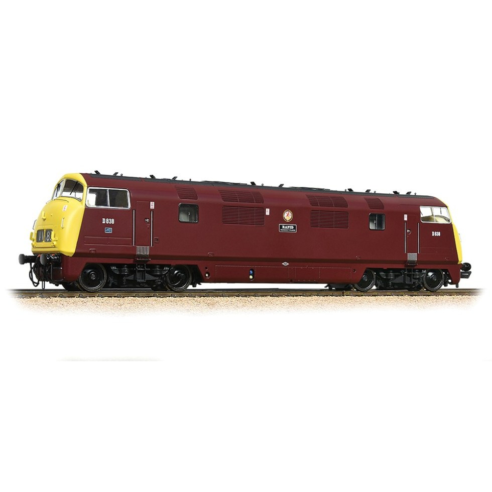 Bachmann 32-068 Class 43 'Warship' D838 'Rapid' BR Maroon (Full Yellow Ends) (OO gauge)