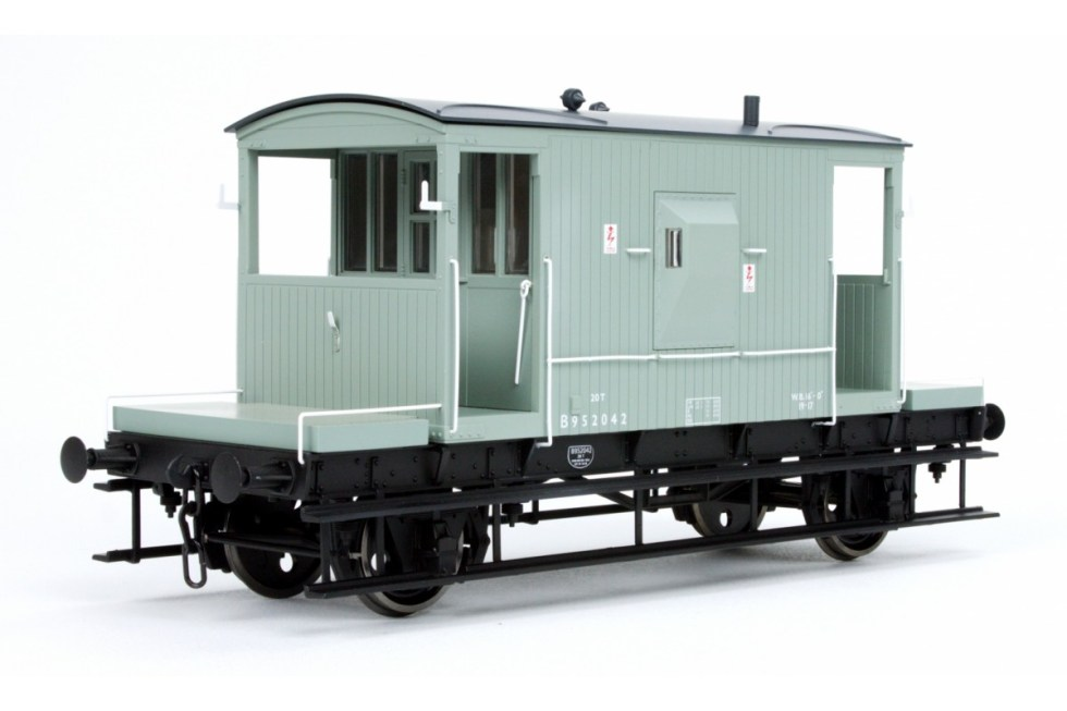 Dapol 7F-200-005 BR 20T Brake Van B952042 Grey (O gauge)