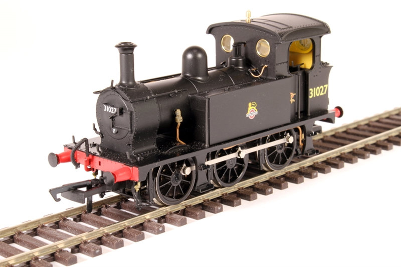 Hattons H4-P-007 SECR P Class 0-6-0T 31027 in BR black with early emblem (OO gauge)