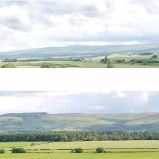"Art Printers P208A Hills and Dales Premium Photographic Backscene 10' long 9"" tall"