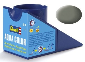 Revell 36145 Acrylic Paint 'Aqua' 18ml Solid Matt Light Olive RAL7003