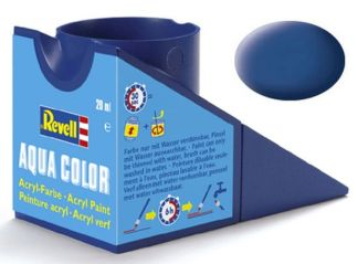 Revell 36156 Acrylic Paint 'Aqua' 18ml Solid Matt Blue RAL5000