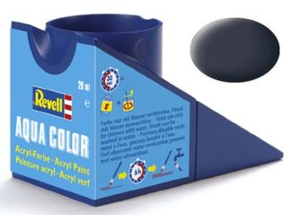 Revell 36178 Acrylic Paint 'Aqua' 18ml Solid Matt Tank Grey (RAL 7024)
