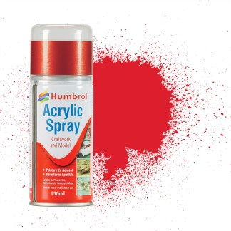Humbrol 19 Bright Red Gloss - Acrylic Spray Paint 150ml (**Collection only**)