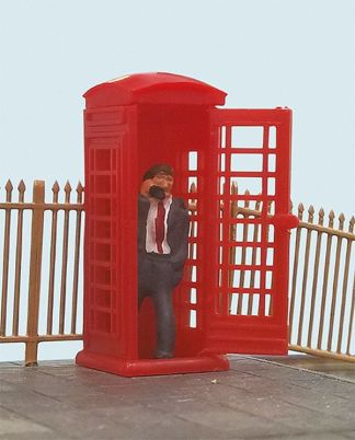 Model Scene 5005 Telephone Box & Caller (OO scale)