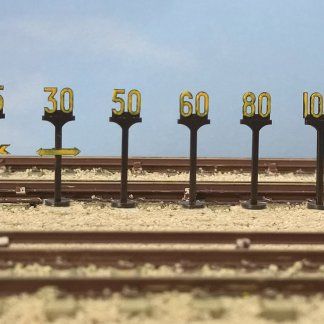 Model Scene 5050 BR Speed Signs (OO scale)