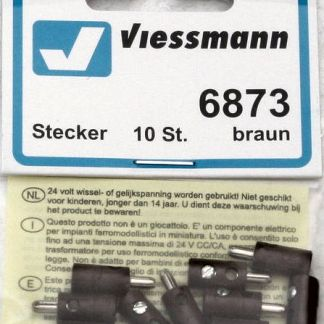 Viessmann 6873 Plugs - Brown (x10) (equivalent to Marklin 7131)