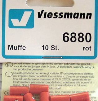 Viessmann 6880 Sockets - Red (x10) (equivalent to Marklin 7115)