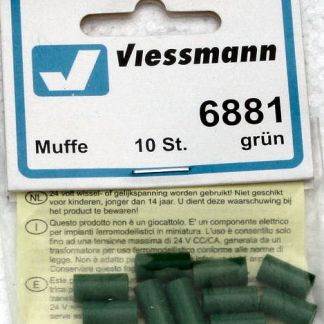 Viessmann 6881 Sockets - Green (x10) (equivalent to Marklin 7113)