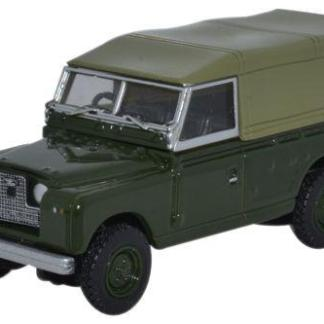 Oxford 76LAN2011 Land Rover Series II Canvas Back - Bronze Green (OO gauge)
