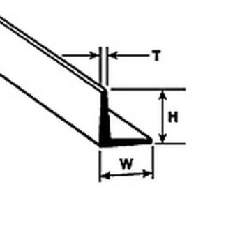 Plastruct AFS-6 L-angle 4.8mm x 610mm (Pack of 5) **Collection only**