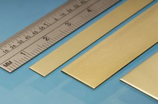 Albion Alloys BS3M Brass Strip 25mm x 0.4mm x 305mm (3 pieces)