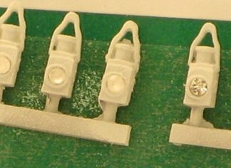 Springside Models DA19 BR Head & Tail Lamps White (5) (OO gauge)