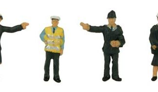 Graham Farish 379-301  Police & Security Staff (6 figures - N gauge)
