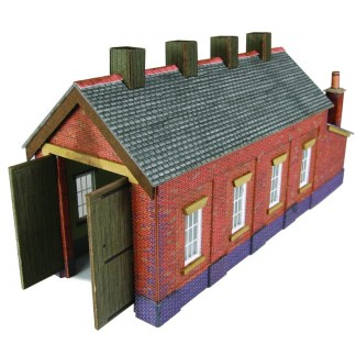 Metcalfe PN931 Red Brick Single Track Engine Shed (N scale card kit)
