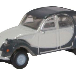 Oxford NCT006 Citroen 2CV Charleston - Two Tone Grey (N gauge)