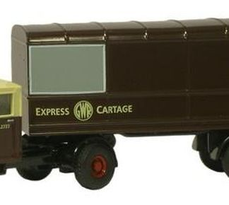 Oxford NMH011 GWR Scammell Mechanical Horse with Van Trailer (N gauge)