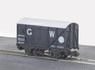 Peco NR-43W Box Van, GW Dark Grey (N gauge)