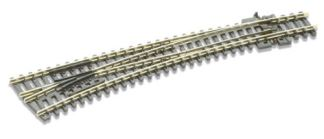 Peco SL-387 Code 80 Insulfrog Curved Left hand Turnout (N gauge)