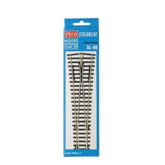 Peco SL-98  Code 100 Insulfrog Large Radius Y Point (OO gauge)