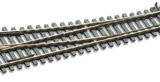 Peco SL-E195 Code 75 Electrofrog Right hand Turnout, medium radius (OO gauge)