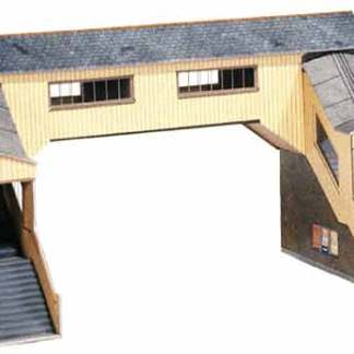 Superquick A9 Covered Footbridge (OO card kit)