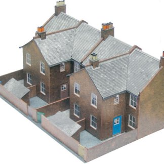 Superquick C5 Low-relief Red Brick Terrace Backs (OO card kit)