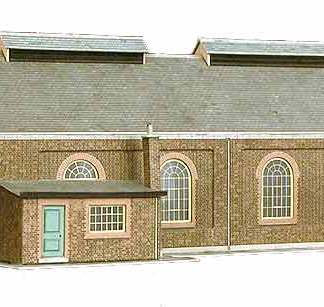 Superquick A5 Two Road Locomotive Shed (OO scale card kit)