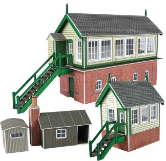 Metcalfe PN133 Signal Box Set (N scale card kit)