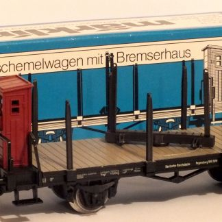 Marklin 4697 Bolster wagon with brakemans cabin  (Secondhand HO scale)