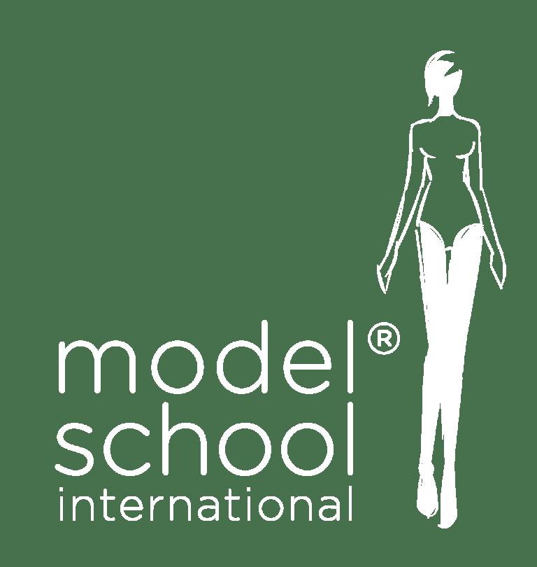 Modelschool International Logo SW als PNG