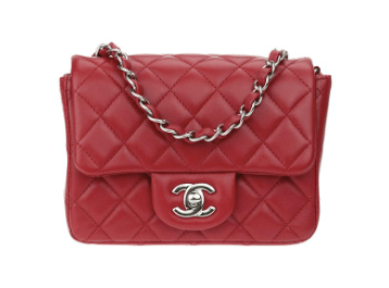 14997db1472b Chanel Classic Flap Square Mini Red Lambskin Leather Shoulder Bag here  (from Tradesy)
