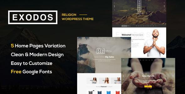 Exodos – Church WordPress Theme