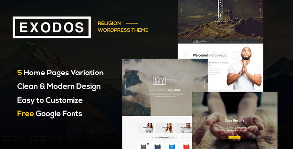 Exodos – Church WordPress Theme