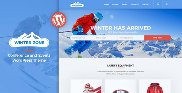 WinterZone – Ski & Winter Sports Theme