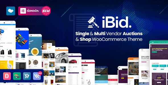 iBid – Multi-Vendor WordPress Auction Theme