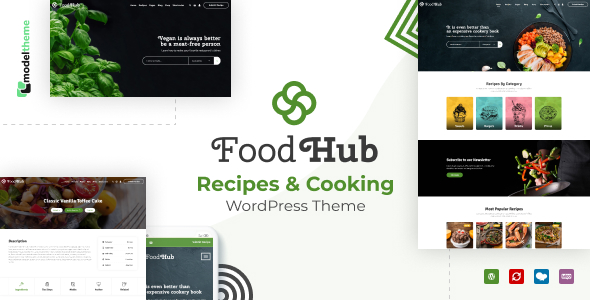 Foodhub – Recipes WordPress Theme