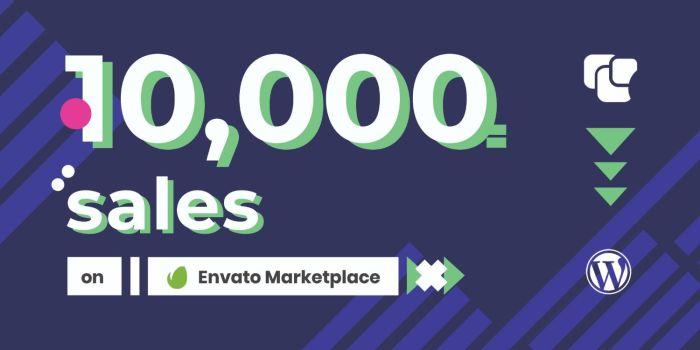 10k Sales Achievement on Envato Market