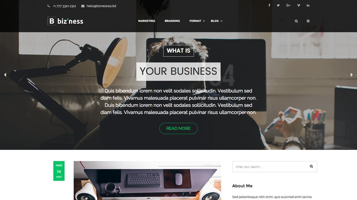 Biz'ness – Business Simple Blog Theme