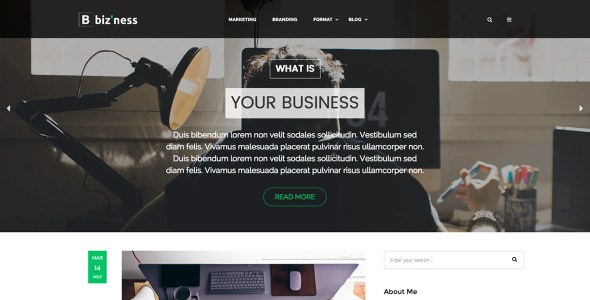Biz'ness – Business Simple Blog Theme